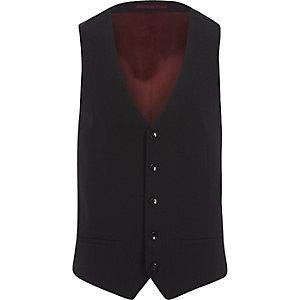 Navy suit waistcoat