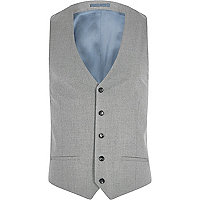 Big and Tall grey suit vest