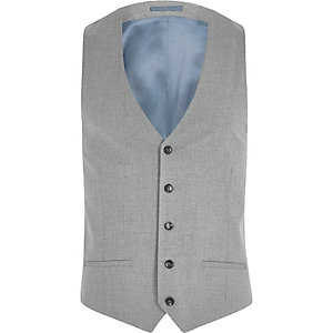 Big and Tall grey suit waistcoat