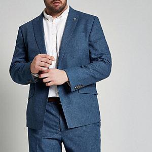 Big and Tall – Veste de costume bleue