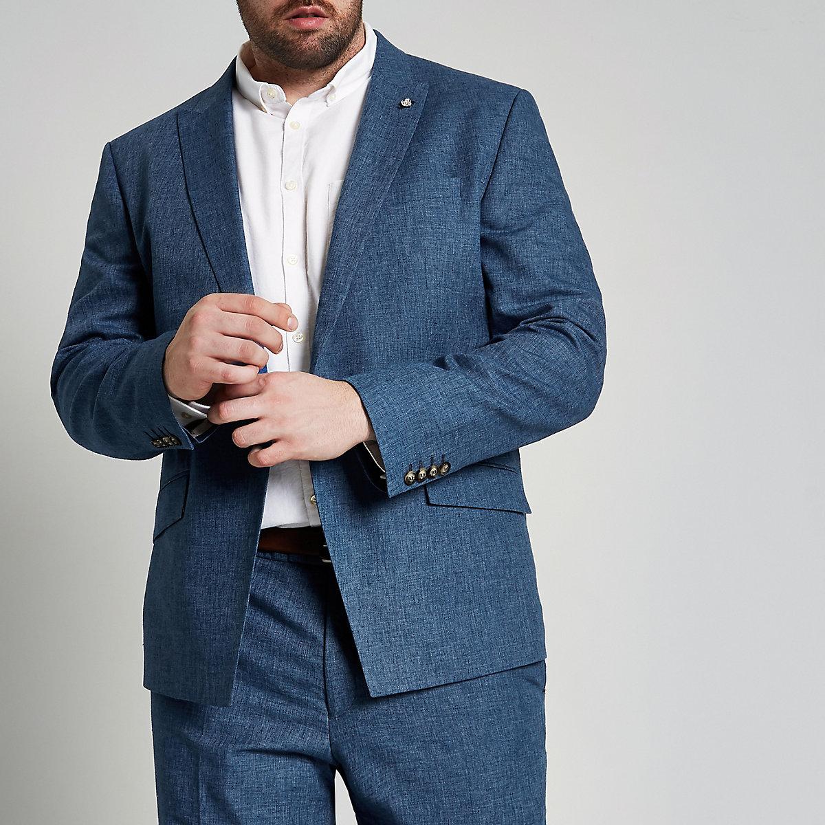 Big & Tall – Blaue Anzugjacke