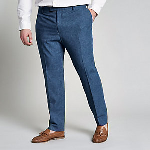 Big & Tall - Blauwe pantalon