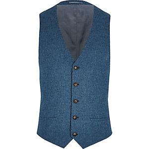 Gilet de costume Big and Tall bleu