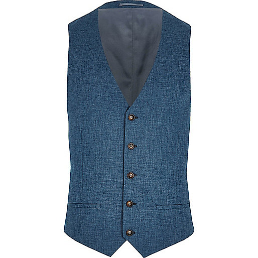 Big and Tall blue suit vest