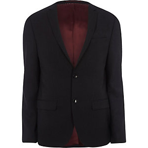 Big and Tall navy skinny fit suit jacket