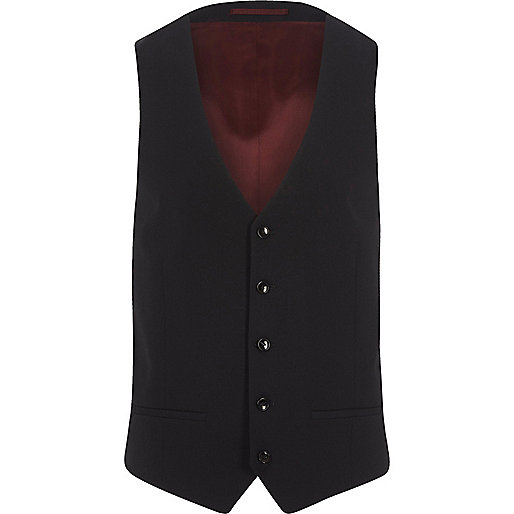 Big and Tall navy suit waistcoat