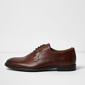 Tan leather smart shoes