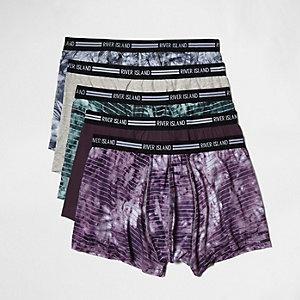 Multipack paarse tie-dye hipsters
