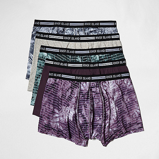 Purple tie dye hipsters multipack