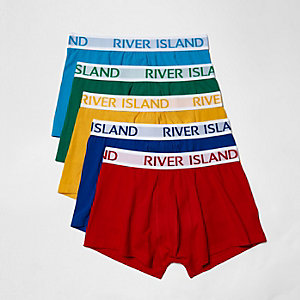 Lot de boxers taille basse multicolores à dominante de rouge