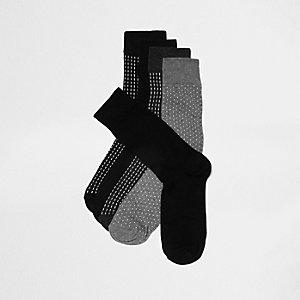 Multipack donkerblauwe sokken met stippen