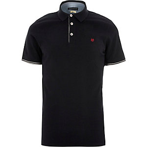 Navy Jack & Jones Premium polo shirt