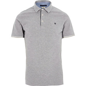 Light grey Jack & Jones Premium polo shirt
