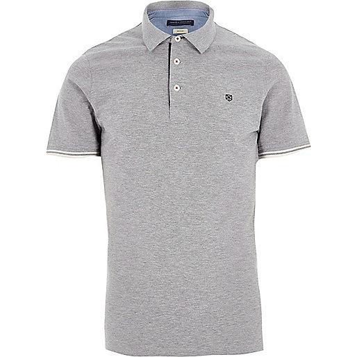 Light grey Jack & Jones Premium polo shirt