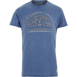 Jack & Jones Vintage blauw T-shirt met print
