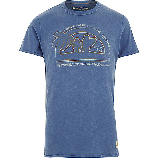 Blue Jack & Jones Vintage print T-shirt