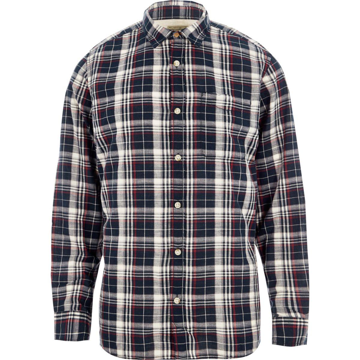 Navy Jack & Jones Vintage check shirt