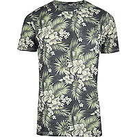 Green Jack & Jones Vintage tropical T-shirt