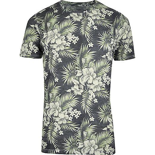 Green Jack & Jones Vintage tropical T-shirt