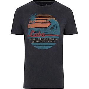Jack & Jones Vintage – T-shirt « Cuba » gris foncé