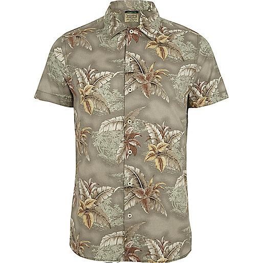 Light green Jack & Jones Vintage floral shirt