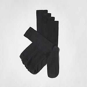 Graue, strukturierte Socken im Set