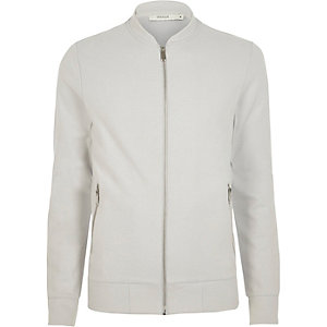White Jack & Jones Premium bomber jacket