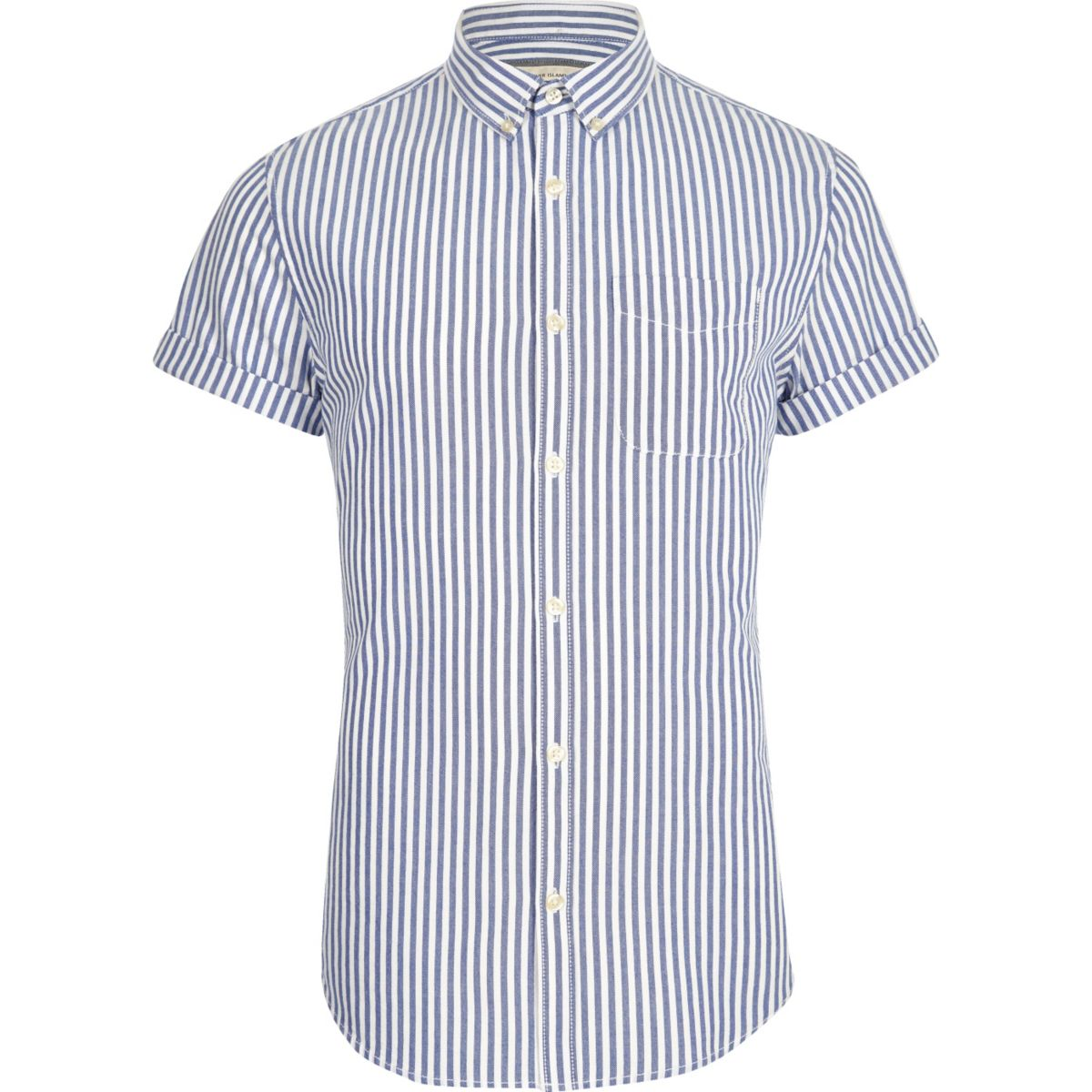 Blaues Slim Fit Oxford-Hemd