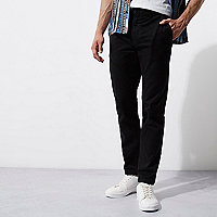Schwarze, casual Slim Fit Chinos