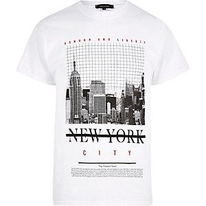 Weißes T-Shirt mit New-York-Motiv