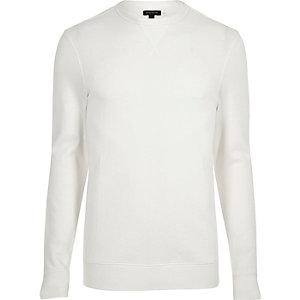 Crème aansluitend sweatshirt met lange mouwen