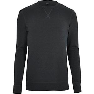 Zwart aansluitend sweatshirt met lange mouwen