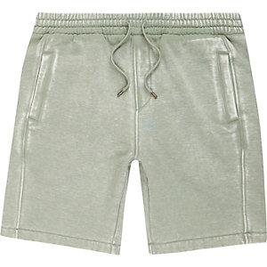 Light green burnout jersey shorts