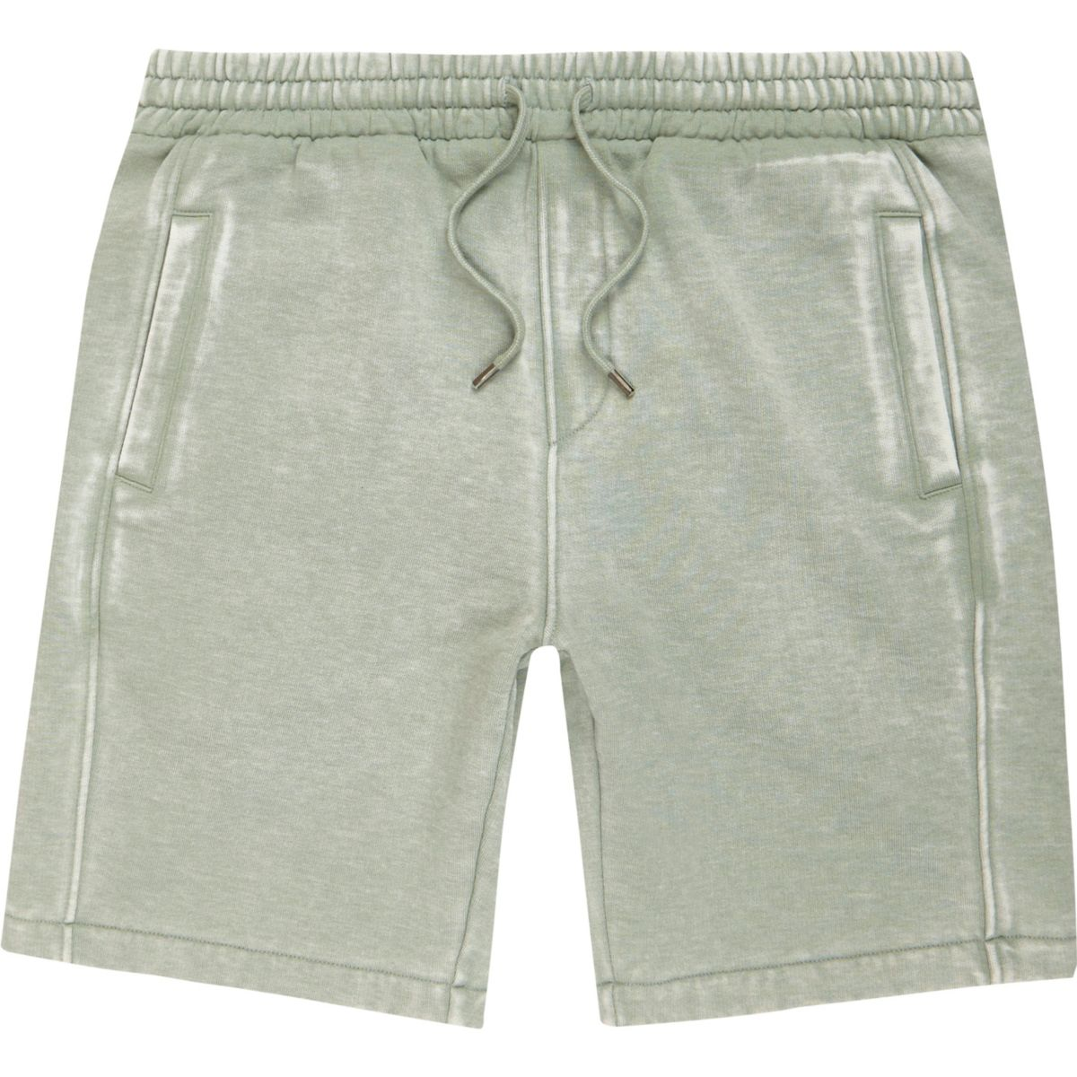 Light green burnout jersey shorts