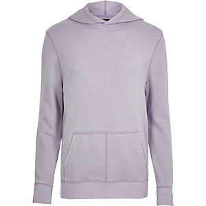 Light purple burnout long sleeve hoodie