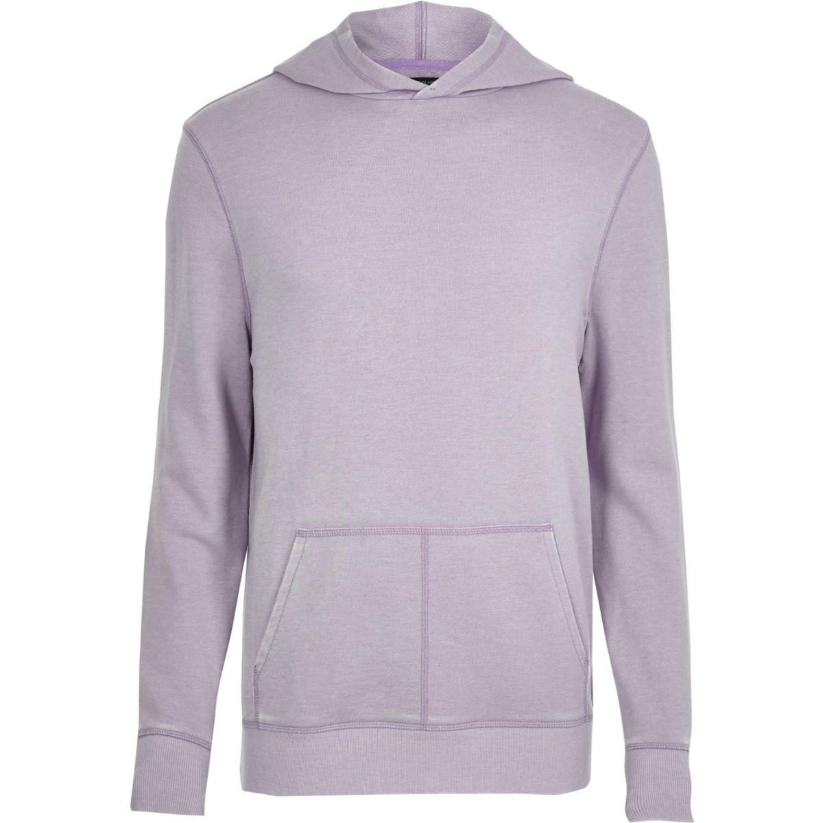 Light purple burnout long sleeve hoodie