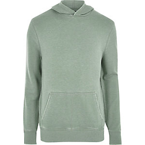 Light green burnout long sleeve hoodie