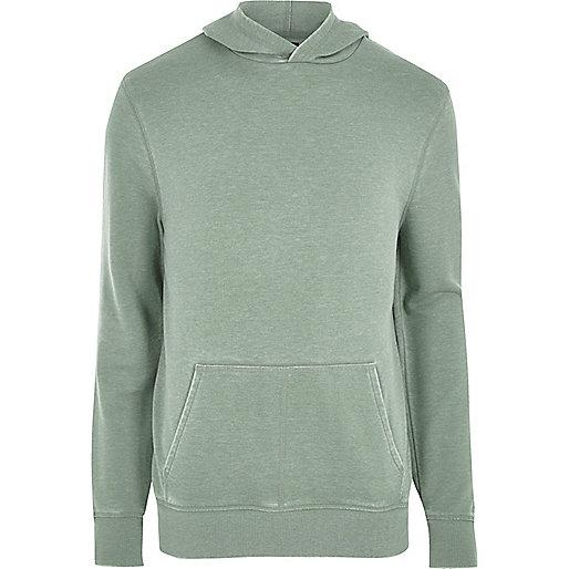 Light green burnout long sleeve hoodie