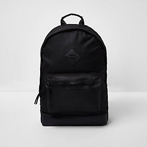 Black front pocket rucksack