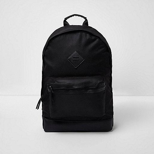 Black front pocket rucksack