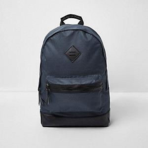 Marineblauer Rucksack mit Tasche vorne
