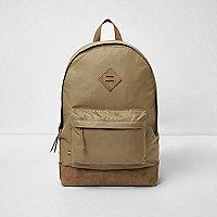 Stone front pocket backpack