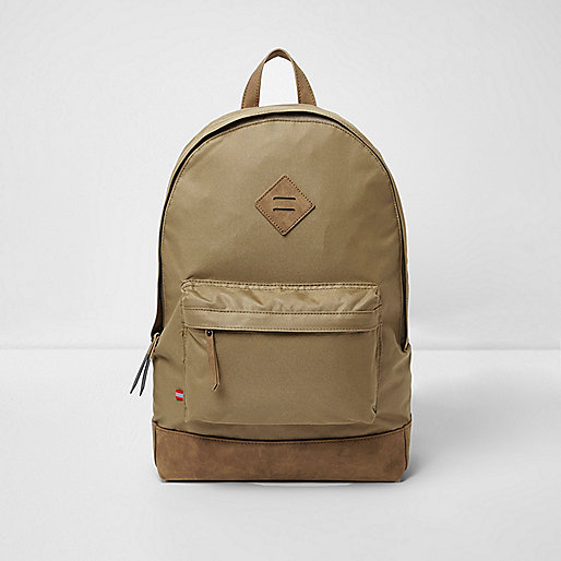 Stone front pocket backpack