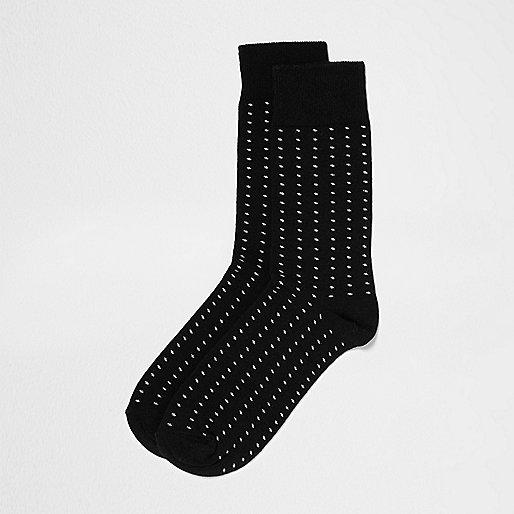 Black spot print socks
