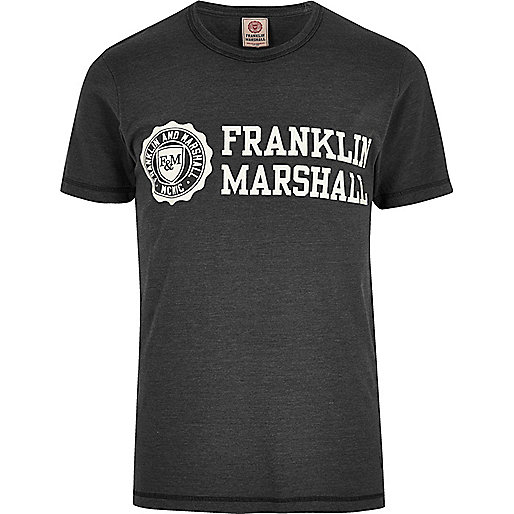 Black Franklin & Marshall print T-shirt