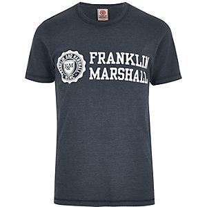 Franklin & Marshall – Marineblaues, bedrucktes T-Shirt