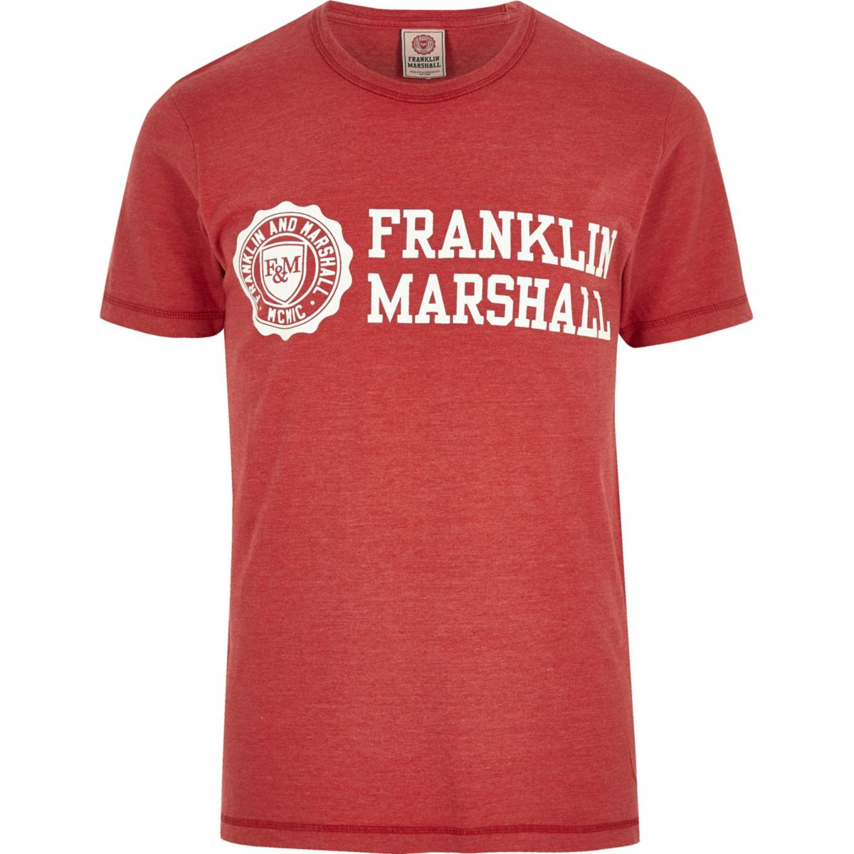 Red Franklin & Marshall print T-shirt