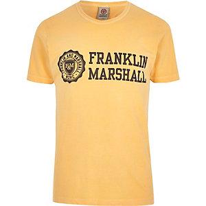 Franklin & Marshall - Oranje T-shirt met print