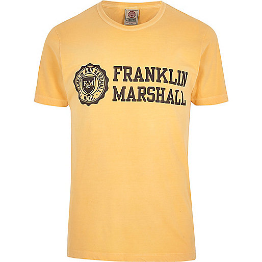 Orange Franklin & Marshall print T-shirt