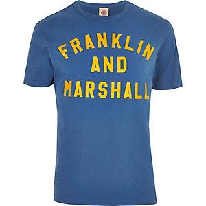 Franklin & Marshall – T-shirt imprimé bleu